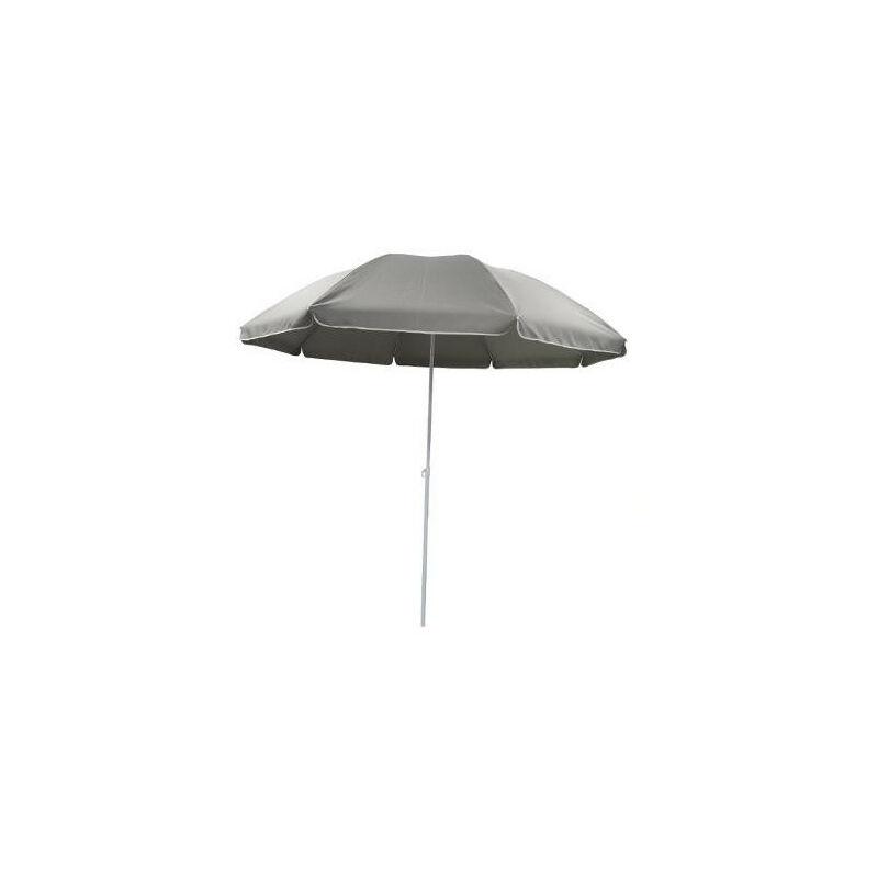 AC-DÉCO Parasol - Ardea - D 220 x H 223 cm - Gris - Livraison gratuite
