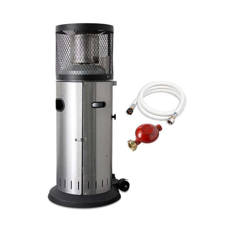 FAVEX Parasol chauffant gaz Cosy Polo - Extérieur - Prêt à l'emploi livré avec tuyau et détendeur - 2 puissances de chauffe - Jusqu'à 10 m² - Favex