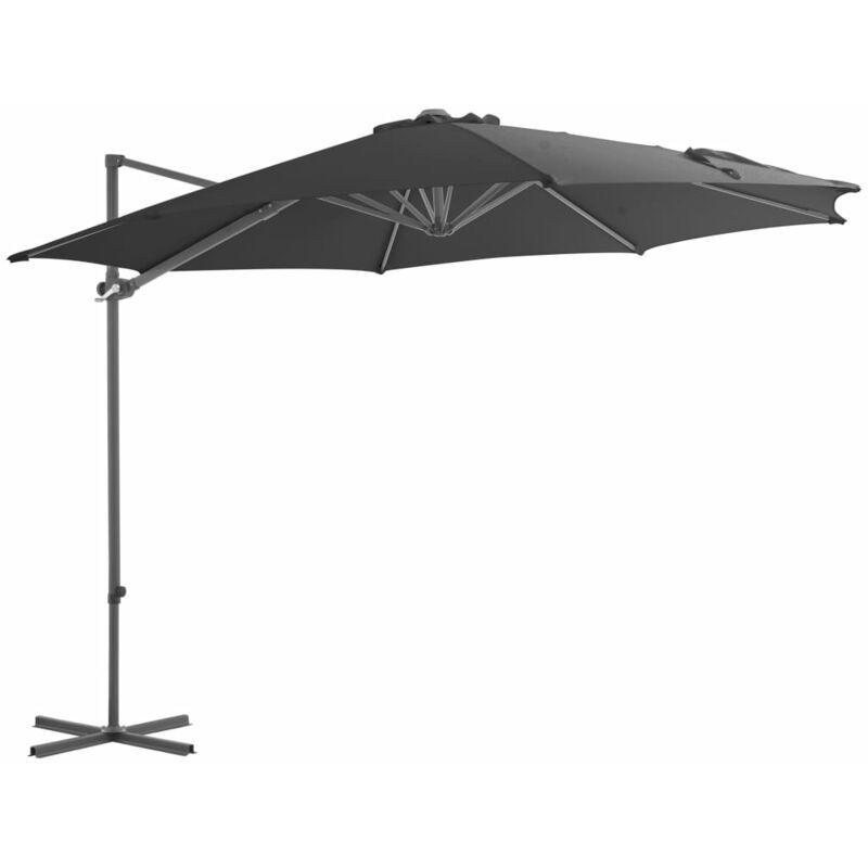 True Deal - Parasol en porte-à-faux avec mât en acier Anthracite 300 cm