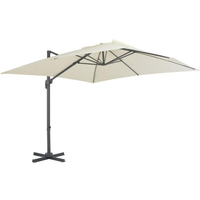 TRUE DEAL Parasol en porte-à-faux avec mât en aluminium 300x300 cm Sable