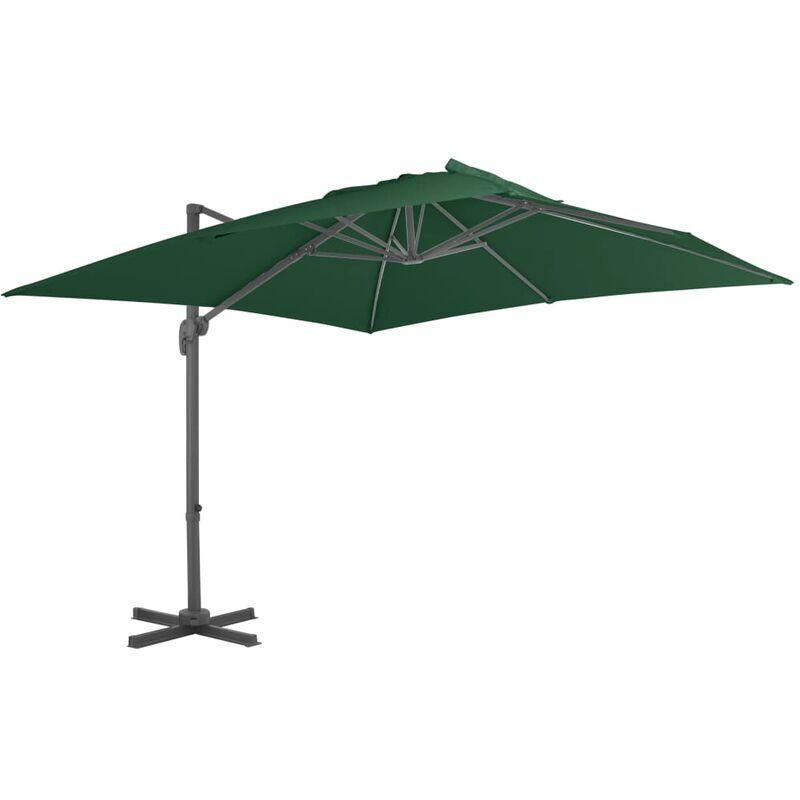 TRUE DEAL Parasol en porte-à-faux avec mât en aluminium 400x300 cm Vert