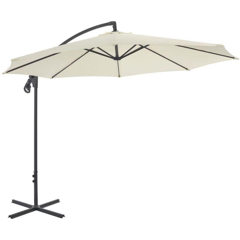 Betterlife - Parasol en porte-à-faux avec poteau en acier 300 cm Sable8945-A