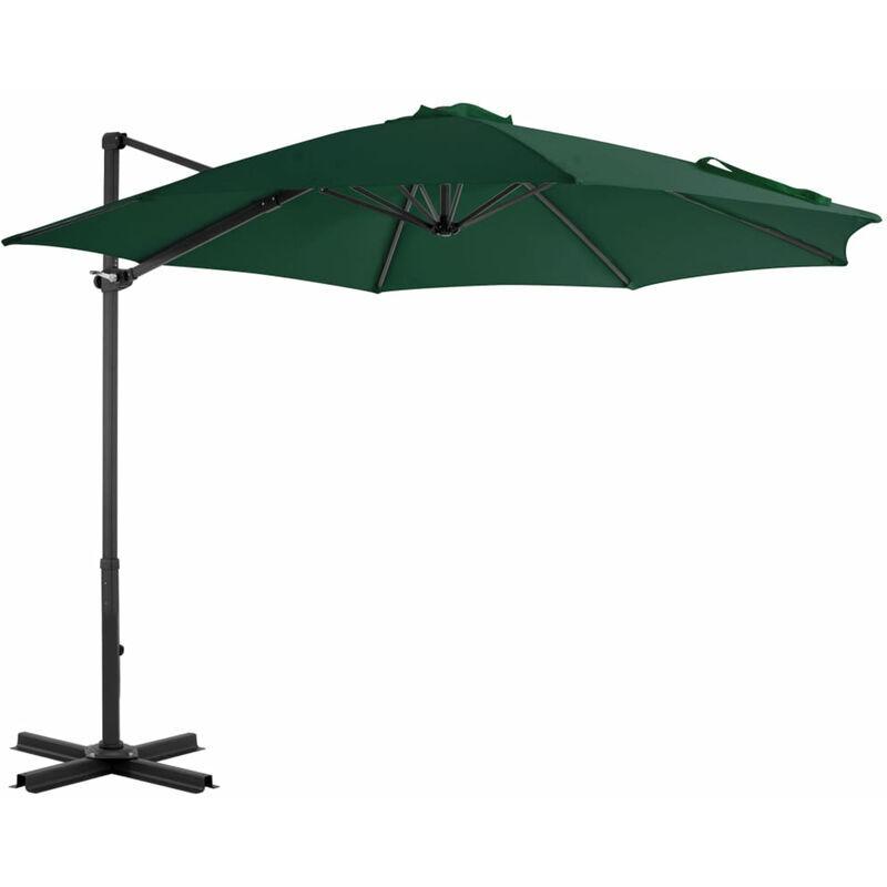 Asupermall - Parasol en porte-a-faux et poteau en aluminium 300 cm Vert