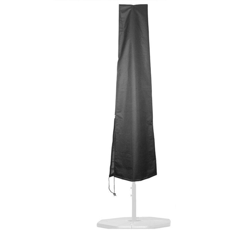 ASUPERMALL Parasol Exterieur De Patio De Jardin En Tissu Oxford 210D, Parapluie En Porte-A-Faux De Protection Uv, Housse De Parasol Impermeable, 183X25X35Cm