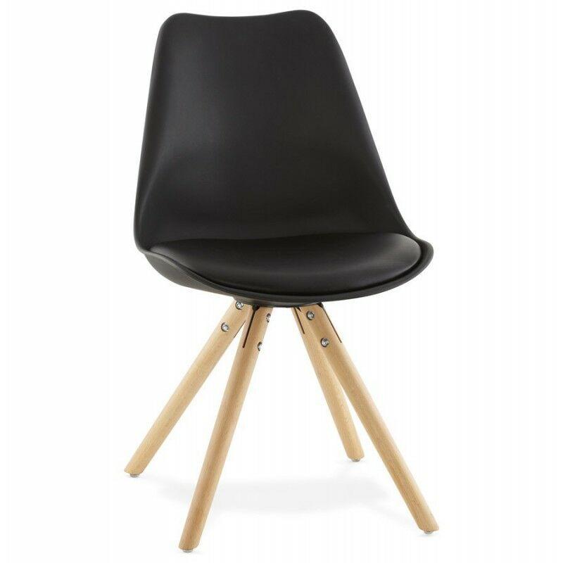 Paris Prix - Chaise Design boka 83cm Noir
