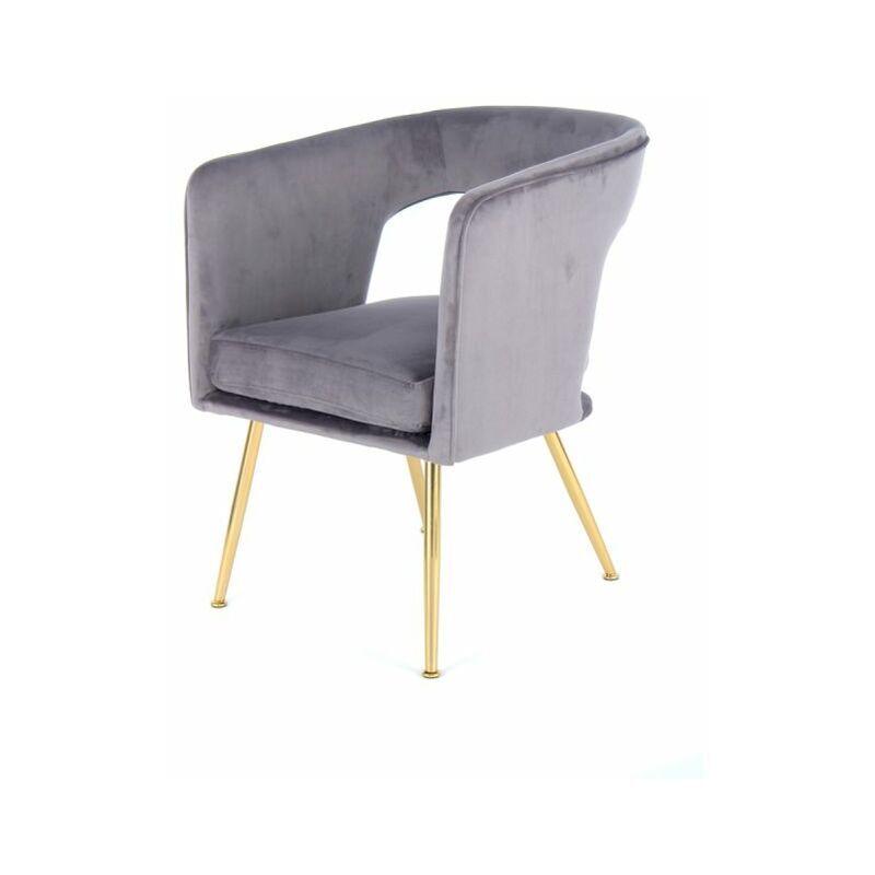 PARIS PRIX Chaise Design jolene 77cm Gris - Paris Prix