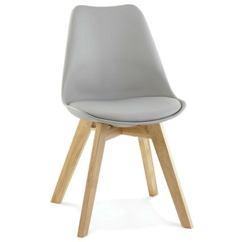 PARIS PRIX Chaise Design lund 83cm Gris - Paris Prix