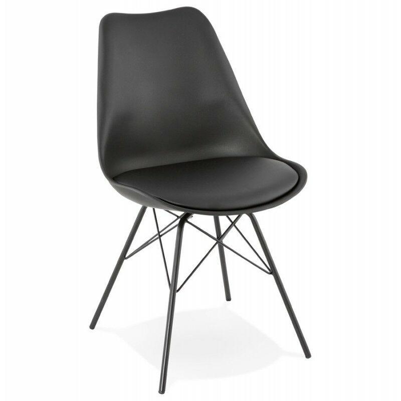 PARIS PRIX Chaise Design tripoli 83cm Noir - Paris Prix