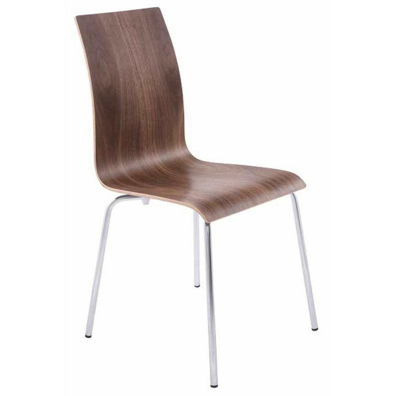 PARIS PRIX Chaise Design zebrano 88cm Noyer - Paris Prix