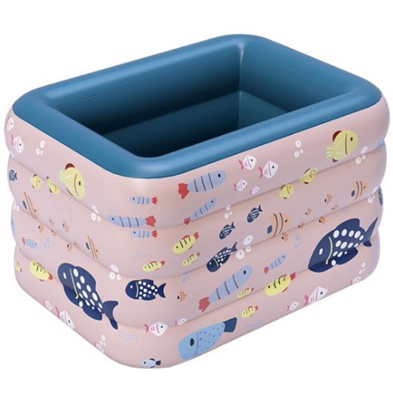Aqrau - Piscine gonflable sans fil automatique en PVC à quatre couches pour bébé de ménage  1,2 m