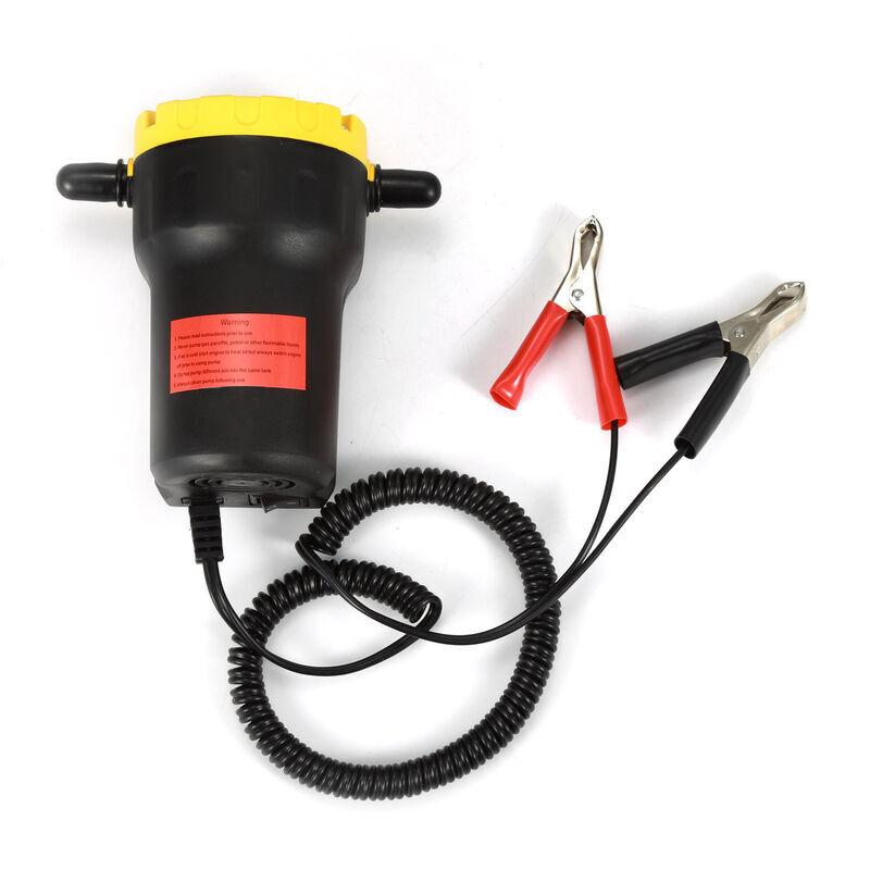 Jeobest - Pompe à vidange 12V 60W Huile/petrole Brut Extracteur de puisard Liquide Scavenge Echange + Tubes - Noir-jaune