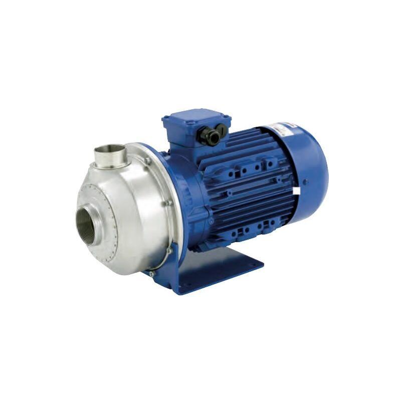 LOWARA Pompe de transfert en INOX COM500/15 monophasé à usage alimentaire à roue ouverte pour liquide avec particules et charges d'impuretés 2Hp - Lowara