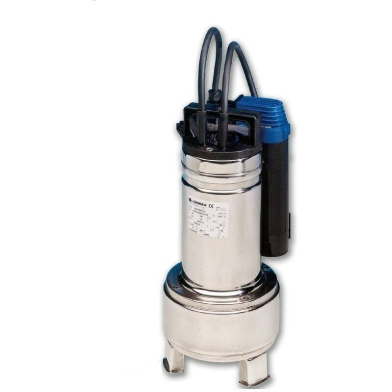LOWARA Pompe d'évacuation vide cave eaux usée automatique DOMO15 GT monophasé 1,1 Kw Roue Bicanale INOX avec Flotteur vertical pour petit regard ou un