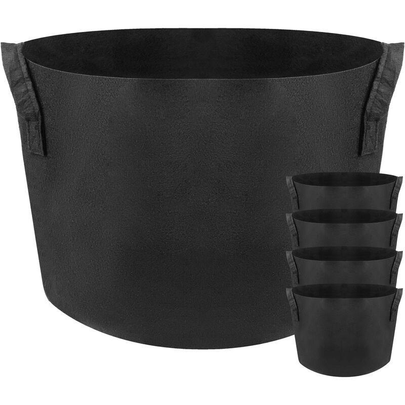 PRIMEMATIK Sac jardinière pour plantes en croissance Pot de tissu de 40 litres 38x30cm 5-pack - Primematik