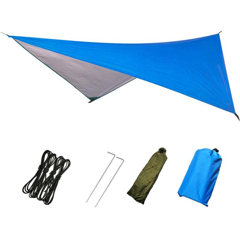 ASUPERMALL Produits De Plein Air, Tente D'Exterieur Auvent De Plage De Camping De Protection Solaire Impermeable Multifonctionnelle, Bleu, 230 * 210Cm