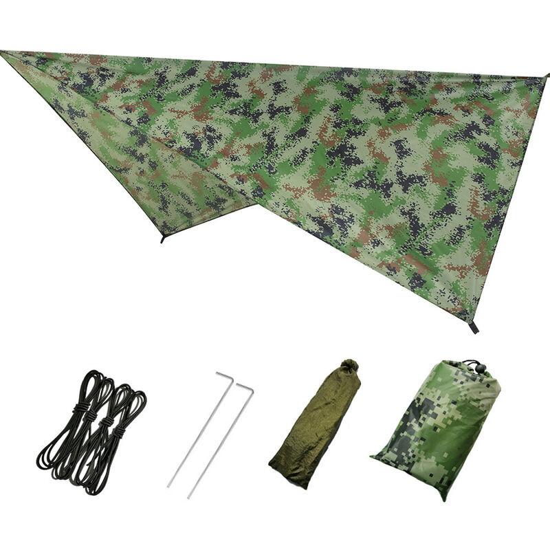 ASUPERMALL Produits De Plein Air, Tente D'Exterieur Auvent De Plage De Camping De Protection Solaire Impermeable Multifonctionnelle, Camouflage, 230 * 140Cm