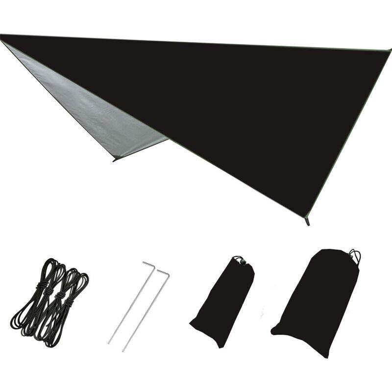 ASUPERMALL Produits De Plein Air, Tente D'Exterieur Auvent De Plage De Camping De Protection Solaire Impermeable Multifonctionnelle, Noir, 230 * 140Cm