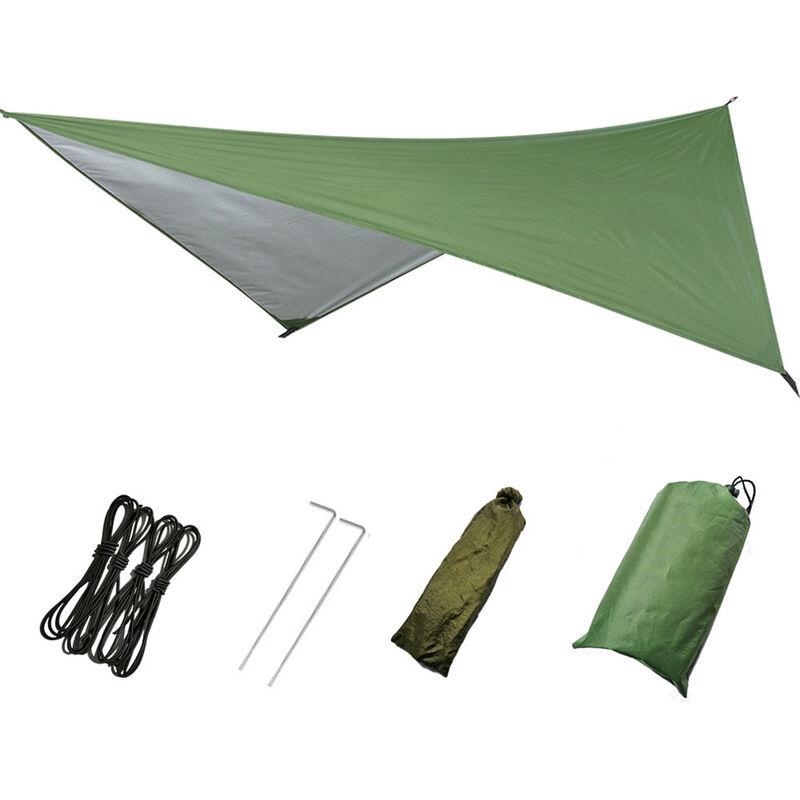 ASUPERMALL Produits De Plein Air, Tente D'Exterieur Auvent De Plage De Camping De Protection Solaire Impermeable Multifonctionnelle, Vert, 230 * 140Cm
