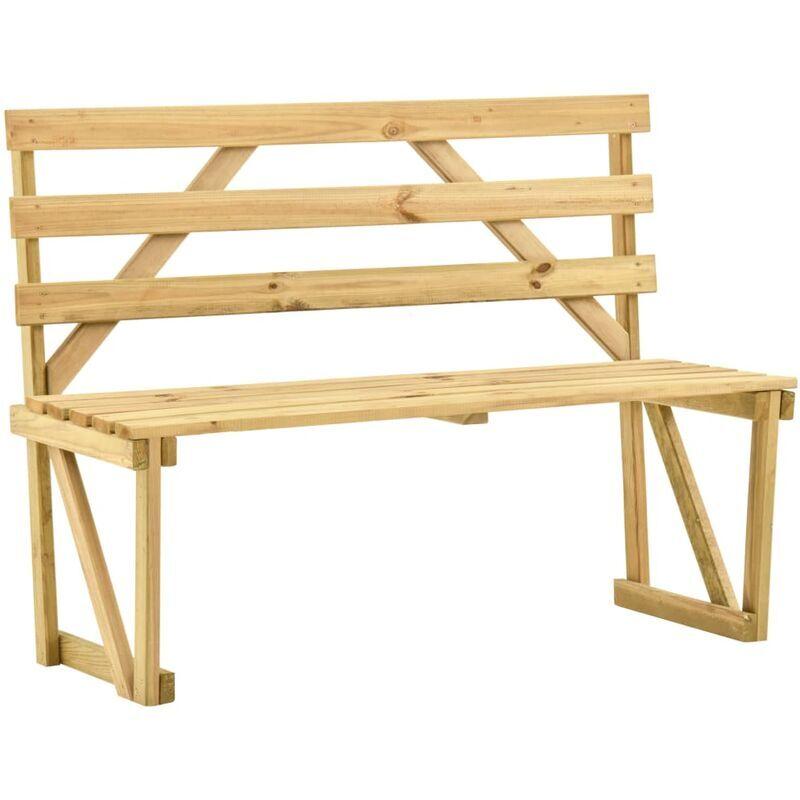 ROGAL banc de jardin 120 cm bois de pin imprégné - Rogal