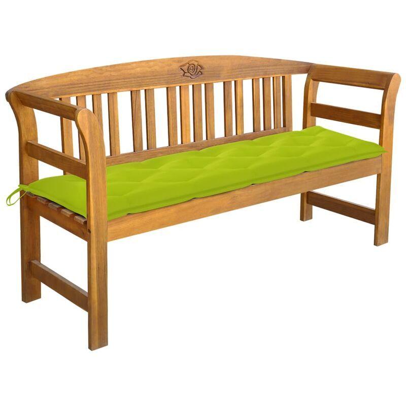ROGAL banc de jardin avec coussin 157 cm bois d'acacia massif - Rogal