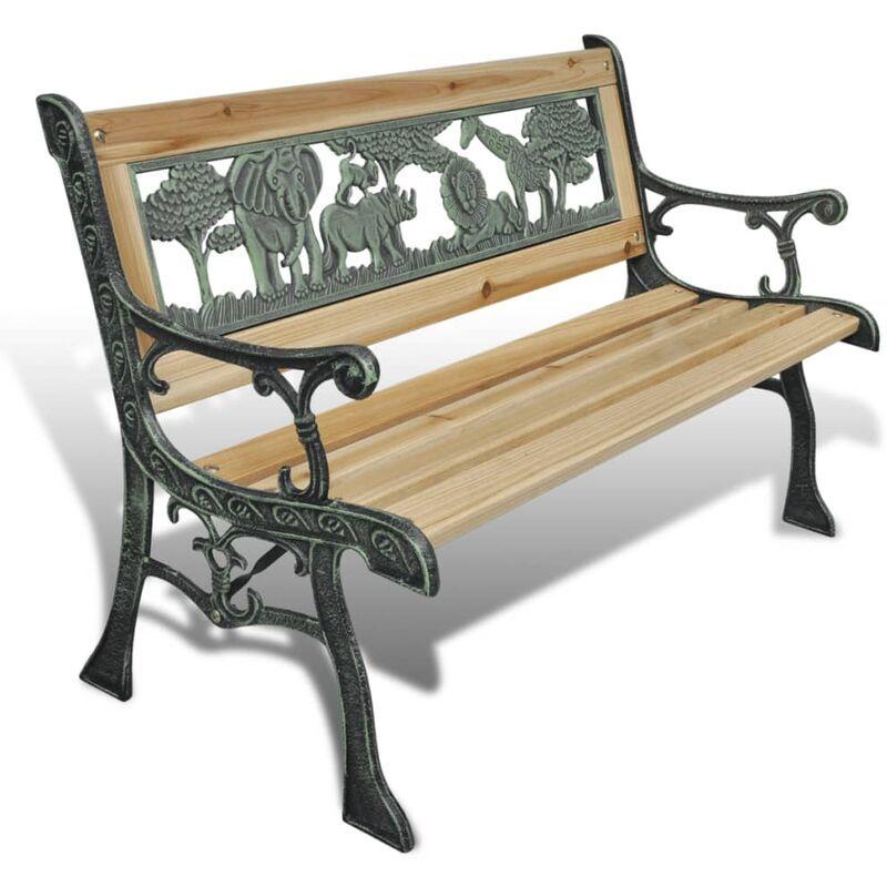 ROGAL banc de jardin pour enfants 84 cm bois - Rogal