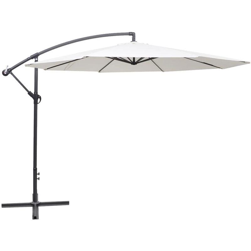 ROGAL parasol en porte-à-faux 3,5 m blanc sable - Rogal