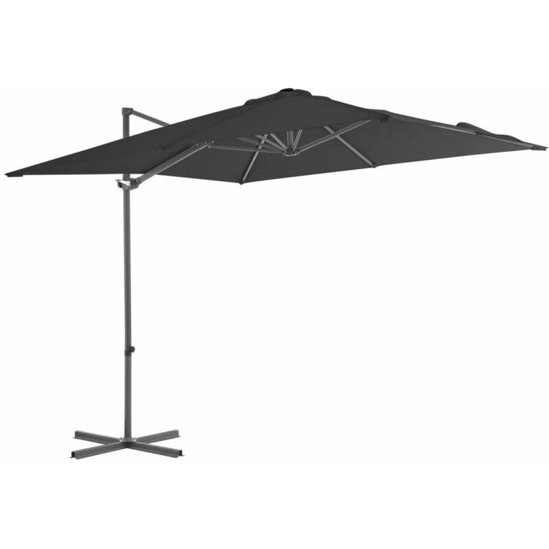 ROGAL parasol en porte-à-faux avec mât en acier 250x250 cm anthracite - Rogal