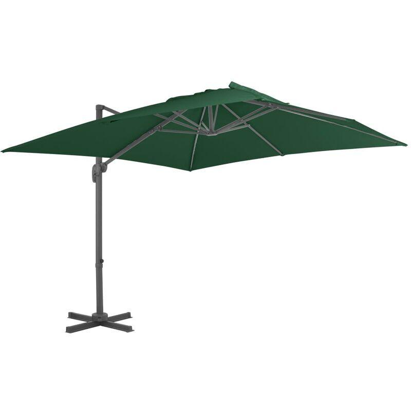 ROGAL parasol en porte-à-faux avec mât en aluminium 400x300 cm vert - Rogal