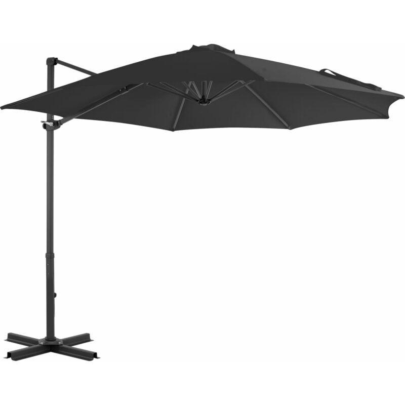 Rogal parasol en porte-à-faux et poteau en aluminium 300cm anthracite Rogal