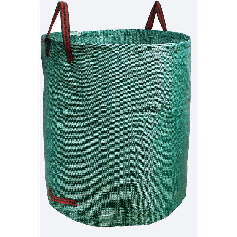 YONGQING Sac de jardin réutilisable en Tissu tissé enduit de polypropylène - 500l - Vert - Vert