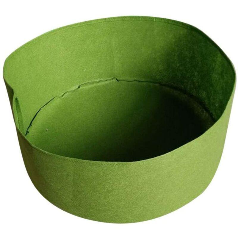 BRIDAY Sac de Plantation Feutre Sac de Culture Sac à Plantes Sac de Croissance pour Légumes Fruit Jardin Tissu Pot de Fleur Herbe Vert 127cm*30cm - Vert