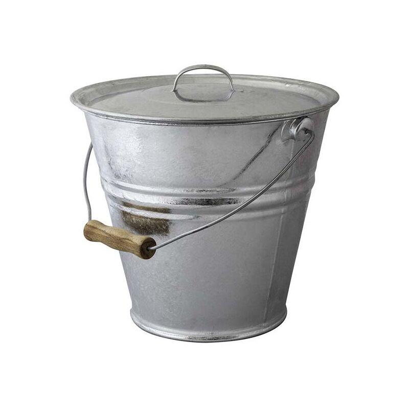 GUILLOUARD Seau cendres granulés ou compost avec couvercle 10 litres