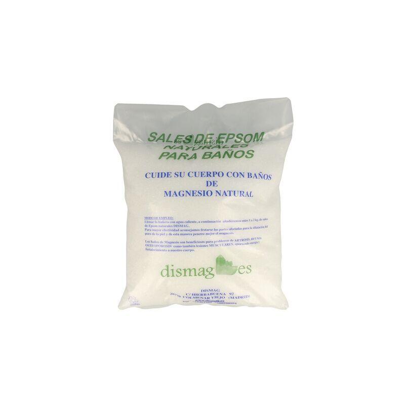 DISMAG Sel d'Epsom 2 Kg, Source Magnésium, Sel 100% Naturel. Bain et Soins Personnels.