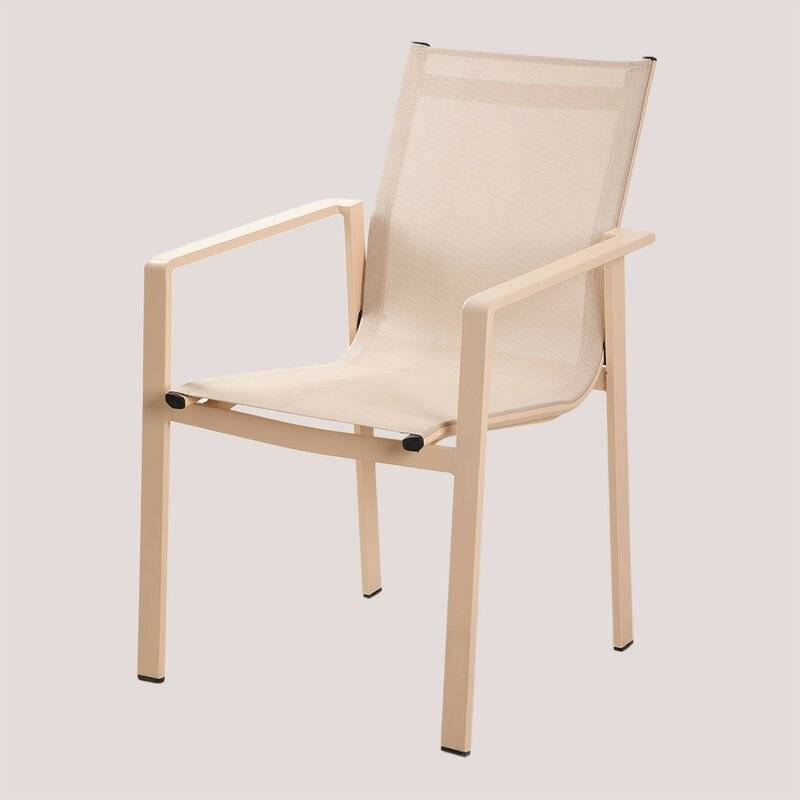 SKLUM Chaise d'Extérieur Eika Aluminium - Textile - Rose Amande - Sklum