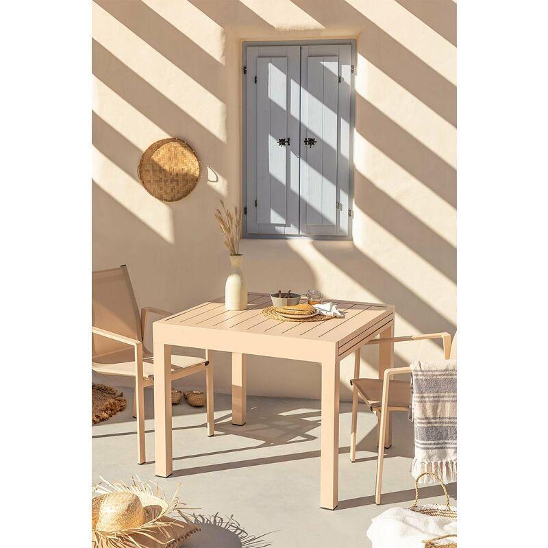 SKLUM Table Extensible d'extérieur (90cm - 90x180cm) Starmi Aluminium - Rose Amande - Sklum