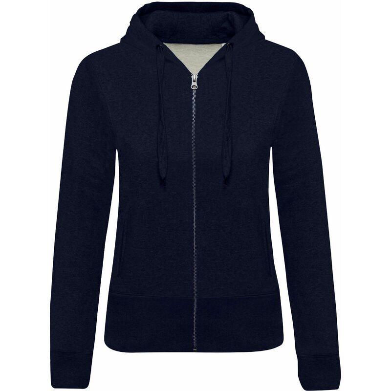 KARIBAN Sweat-shirt Bio zippé capuche femme 'S French Navy Heather - French Navy Heather