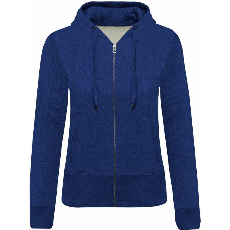 KARIBAN Sweat-shirt Bio zippé capuche femme 'S Ocean Blue Heather - Ocean Blue Heather