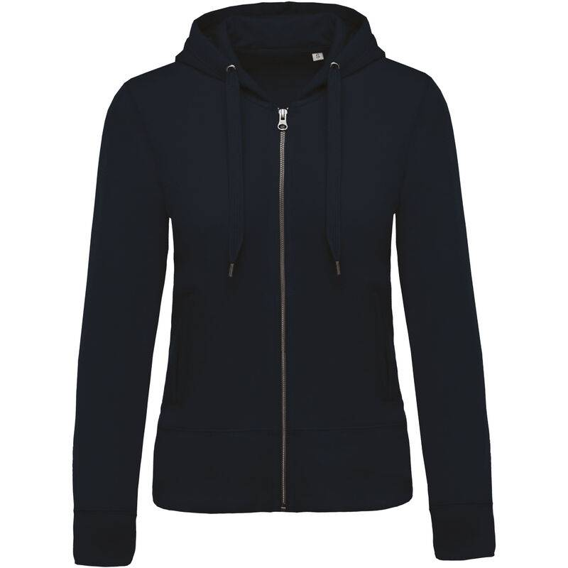 KARIBAN Sweat-shirt Bio zippé capuche femme 'XXL Navy - Navy