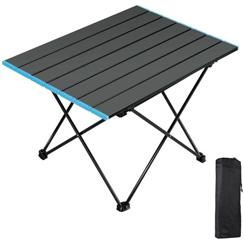 YONGQING Table de Camping, Pliante Table Alliage d'aluminium Ultra-légère Portable avec Sac de Transport, Facile à Nettoy, pour Les activités en Plein air,