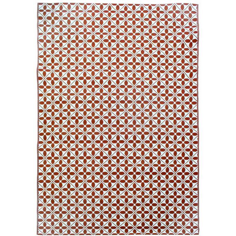 ALICE'S GARDEN Tapis extérieur/intérieur motif carreaux de ciment. traité anti UV. toutes saisons 200x290 cm