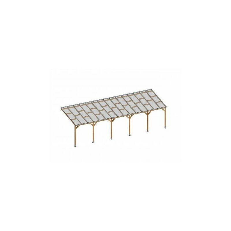 CHALET & JARDIN Toit Couv'Terrasse® en bois 3x9,2 m - Avec toit polycarbonate