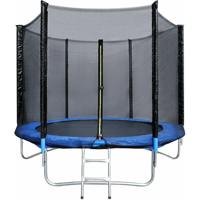YOUTHUP Trampoline avec filet de protection 305 cm jouet enfant sport à domicile en plein air en sécurité soilde anti-corrosion