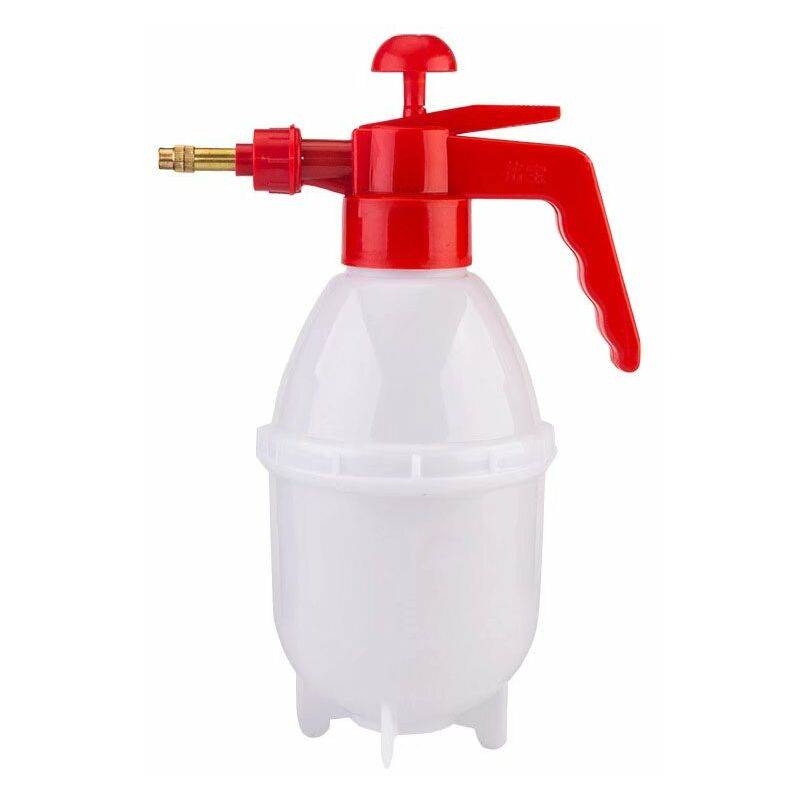 TRIOMPHE Arrosoir réglable, pulvérisateur à pression d'air, arrosoir, arrosoir et arrosoir (arrosoir à graisse blanche 0.8L + buse générale pour arrosoir à