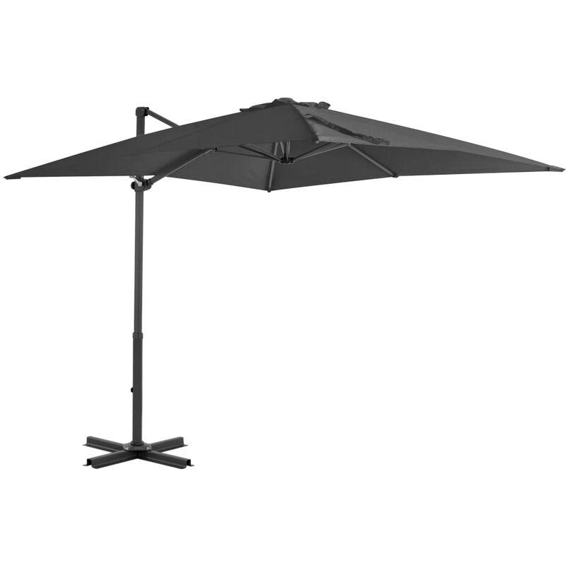 TRUE DEAL Parasol en porte-à-faux Mât en aluminium 250x250 cm Anthracite