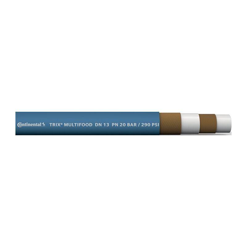 Continental Tuyau compatible produits alimentaires TRIX® MULTI-FOOD D. intérieur 13 mm D. ext. 23 mm longueur 40 m bleu épaisseur paroi 5 mm - Continental