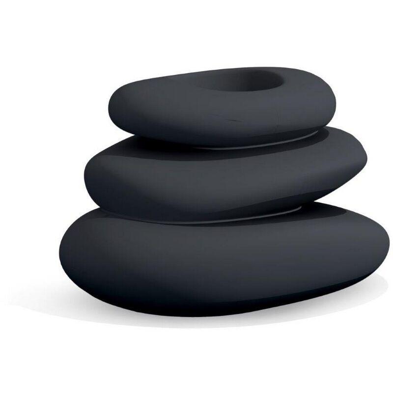 Idralite - Vaso Eden antracite in resina 75x62 cm