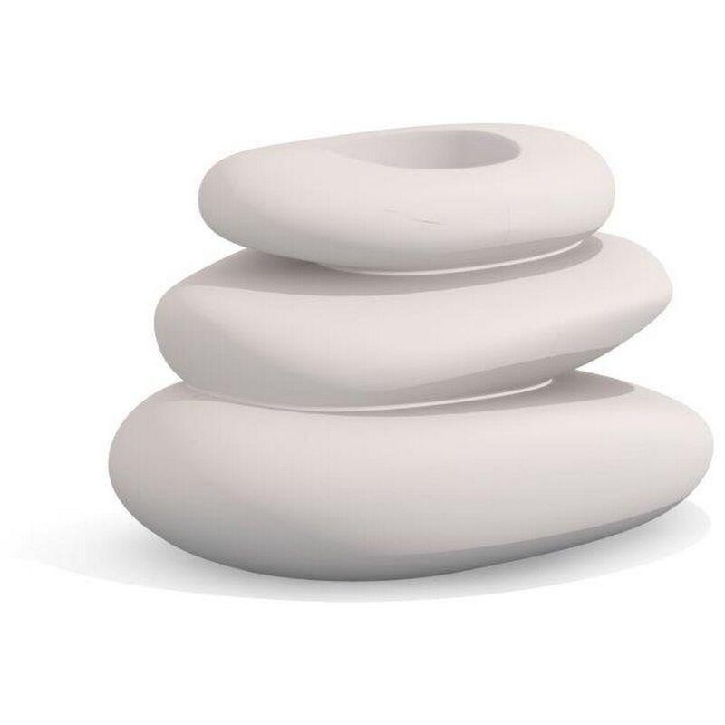 Idralite - Vaso Eden bianco in resina 75x62