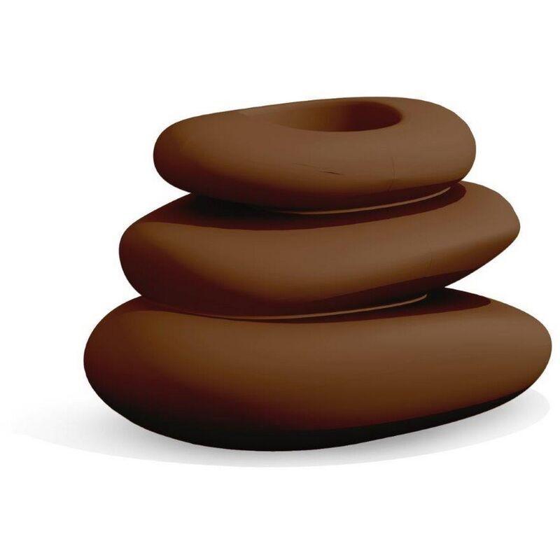 Idralite - Vaso Eden marrone in resina 75x62 cm
