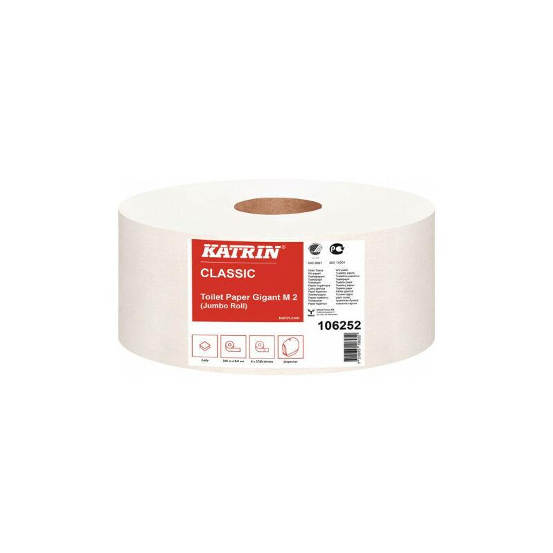 KATRIN Papier toilette Classic Gigant M 2 2 plis 6 RL a 2720 feuilles-16320 feuilles. (Par 6) - Katrin