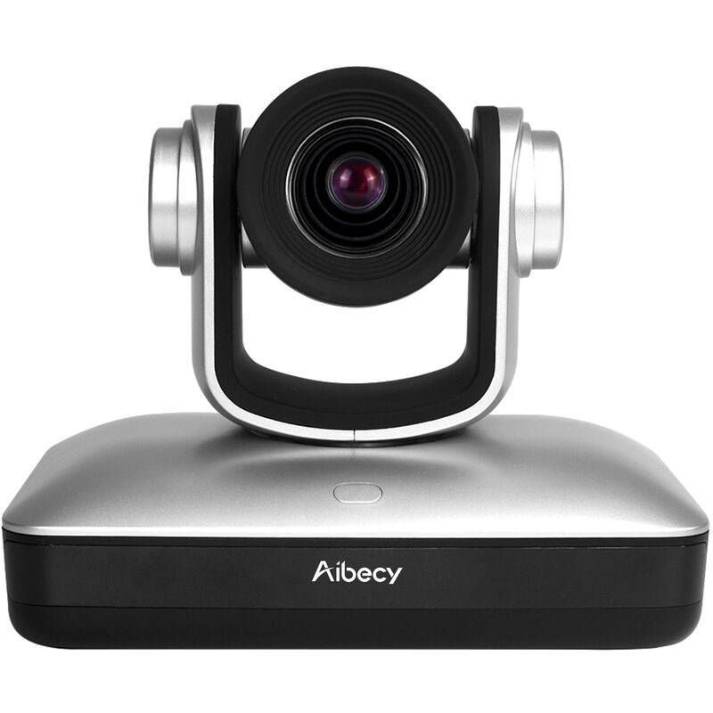 AIBECY HD Video Conference Cam Camera Conference Full HD 1080P Mise au point fixe Zoom 105 degres grand Affichage avec 2.0 USB Web Cable de controle a